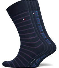 th men sock 5p fine stripe tin gift underwear socks regular socks blå tommy hilfiger