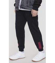 pantalón de buzo jogger franjas negro - hombre corona