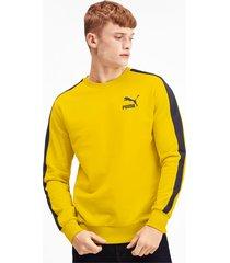 iconische t7 sweater met ronde hals voor heren, maat m | puma