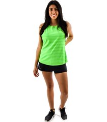 regata rich young fitness verde + shorts saia fitness preto