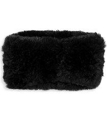 rabbit fur headband