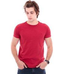 camiseta slim gola redonda com elastano masculina - masculino