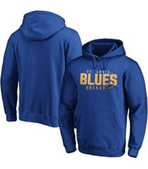 majestic st. louis blues men's empty netter hoodie