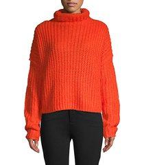 funnelneck long-sleeve sweater