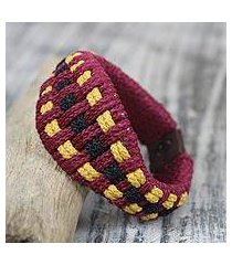 men's wristband bracelet, 'golden wine tradition' (ghana)