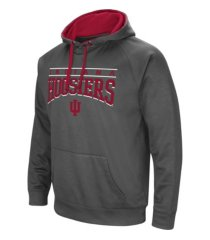colosseum indiana hoosiers men's poly performance hooded sweatshirt