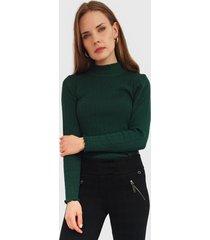 sweater io   liso verde - calce regular