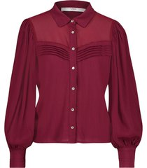 blouse met pofmouwen veronica  bordeaux