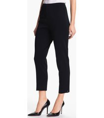 women's ming wang pull-on ankle pants, size x-small - black