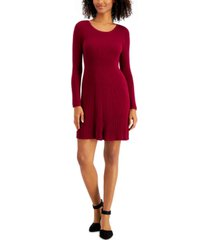 style & co petite ribbed sweater dress, created for macy's