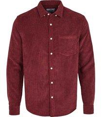 kronstadt overhemd johan corduroy bordeaux - rood