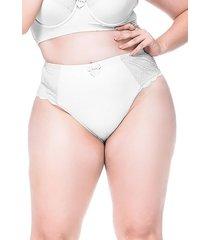 calcinha sempre sensual lingerie vintage branco - branco - feminino - dafiti