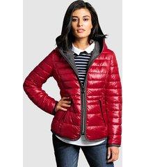 doorgestikte jas alba moda rood