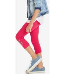 capri leggings cross - red - xl