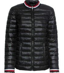 giacca trapuntata con bordi a righe (nero) - bodyflirt