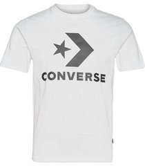 converse star chevron tee t-shirts short-sleeved vit converse