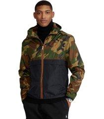 polo ralph lauren men's camo water-repellent hooded jacket