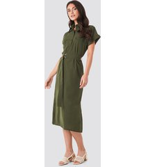 trendyol milla button midi dress - green