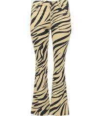 zebra flared broek trousers
