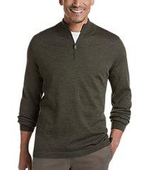 joseph abboud olive 37.5® technology 1/4 zip mock neck modern fit sweater