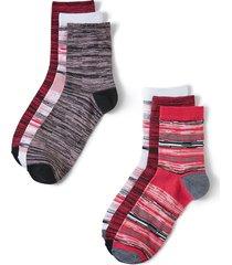 cozy stripe crew socks 6-pack
