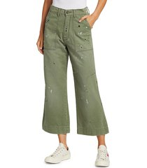 nsf women's sedona painted baker pants - green - size 28 (4-6)