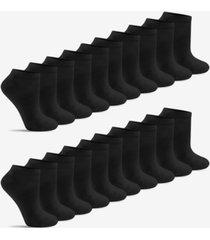 warner's women's light & easy flat-knit low-cut 20pk socks