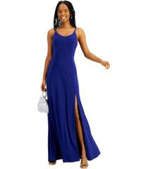morgan & company juniors' strappy open-back gown