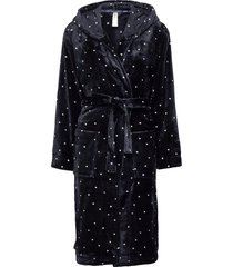 robe blue dot fleece morgonrock blå lindex