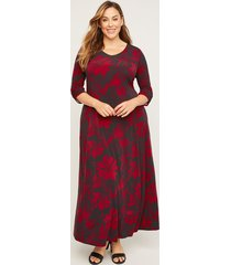 anywear poinsettia maxi dress (with pockets)