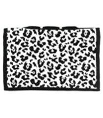 ami amalia capa para travesseiro com estampa de leopardo - preto