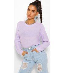 boxy sweater, lilac