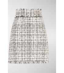 dolce & gabbana tweed straight-fit skirt
