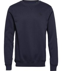 premium core r sw l\s sweat-shirt tröja blå g-star raw