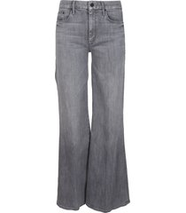 mother grey cotton blend the roller jeans