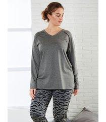 sweatshirt janet & joyce antraciet