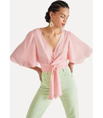 blusa amarracao na cintura eva - feminino