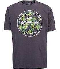 camiseta hd masc est spike flora - cinza escuro