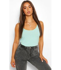 recycled rib cami top, mint