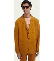 scotch & soda relaxed-fit linen-blend blazer