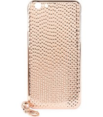 la mela women's cobra 18k rose gold plated iphone 6 & 6s case - pink