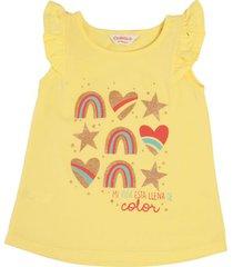 camiseta natalia amarillo