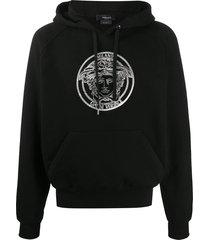 black medusa logo hoodie