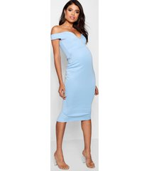 positiekleding sweetheart jurk met blote schouder, bluebell
