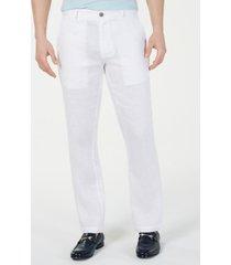 tasso elba men's 100% linen pants, created for macy's