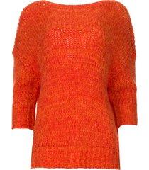 gebreide trui sabina  oranje