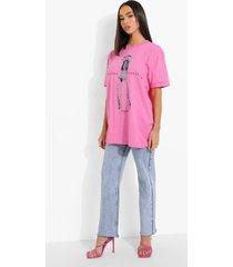 gelicenseerd christina aguilera t-shirt, light pink