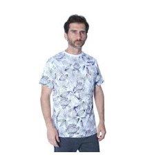 camiseta hipica polo club full print floral masculina