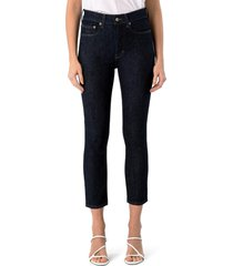 women's modern american soho high waist crop skinny jeans, size 30 - blue