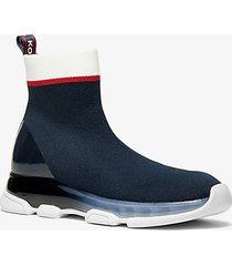 mk sock sneaker kendra in maglia stretch - blu ammiraglio (blu) - michael kors